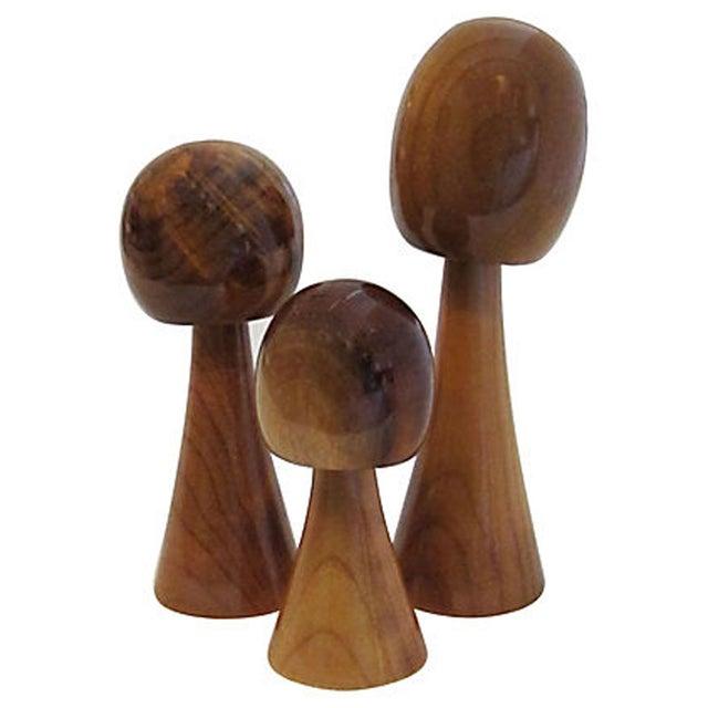 Mid-Century Stylized Wood Trees - Set of 3 - Image 1 of 6