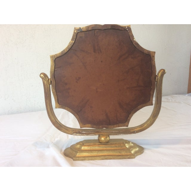Gilt Wood Table Mirror - Image 4 of 8