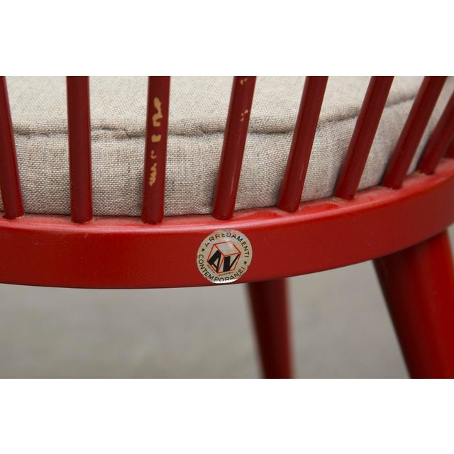 Swedish Red Hoop Lounge Chair - Image 10 of 11