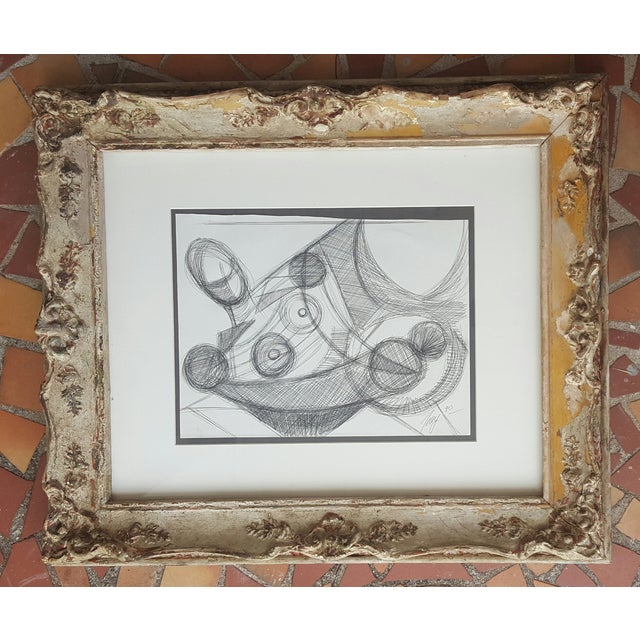 Image of Freid Abstract Pencil Drawing
