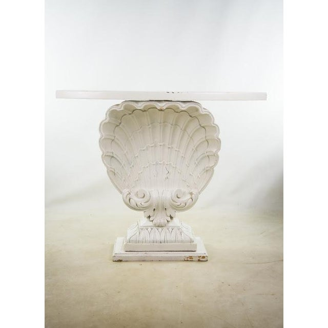 Nautical Seashell White Lacquered Entryway Table - Image 11 of 11