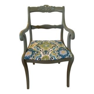 Green Goddess Floral Chair