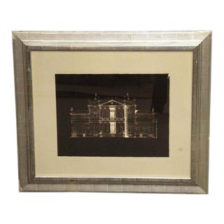 Matted Brown & White House Photo