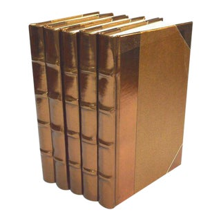 Metallic Collection Antique Gold Books - Set of 5