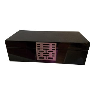 Shanghai Tang Black Lacquer Jewelry Box