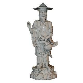 Chinese Fisherman Porcelain Figurine