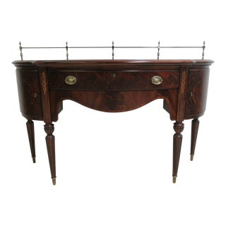 Thomasville Inlaid Flame Mahogany Federal Server Sideboard Buffet
