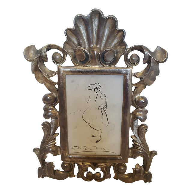 Image of French Metal Picture Frame