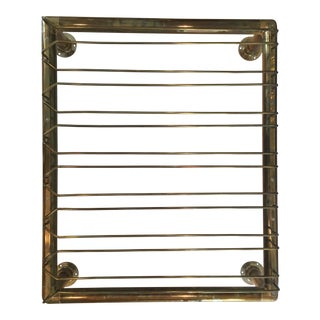 Brass Wine Glass Hanging Rack