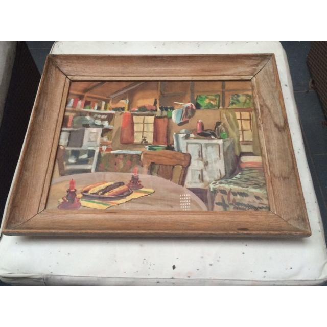 """Peter Driben Watercolor """"Retreat"""" - Image 2 of 6"""