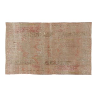 Zeki Muren Distressed Vintage Turkish Sivas Area Rug - 4′ × 6′5″