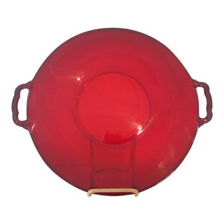 Cambridge Glass Ruby Serving Tray