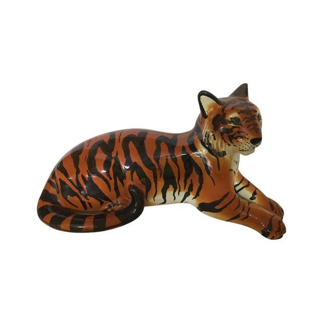 Stunning Italian Ceramic Tiger - Image 1 of 8