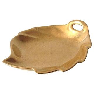 Pickard Porcelain Leaf Shaped Dish With 22k Gold