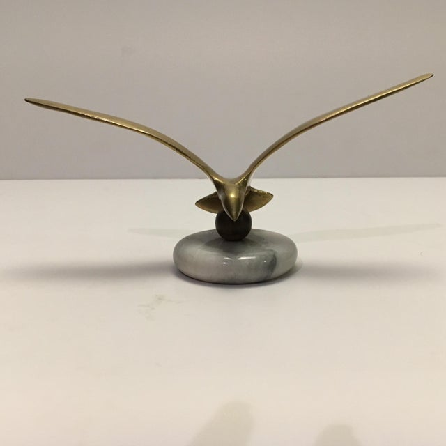 Image of Vintage Brass Bird Paper Weight