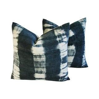 Ombré Indigo & White Pillows - A Pair