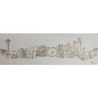 Minimalist Seattle Skyline Painting