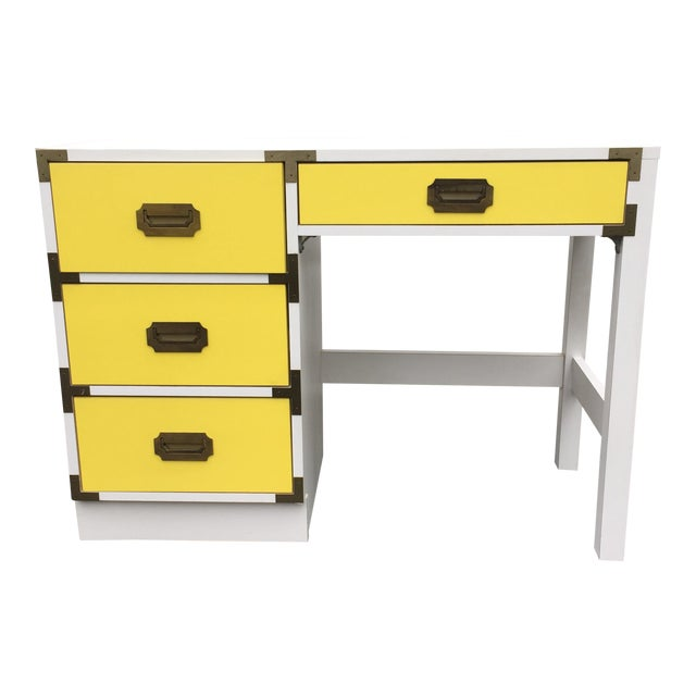 Mid-Century Modern Campaign Desk - Image 1 of 11