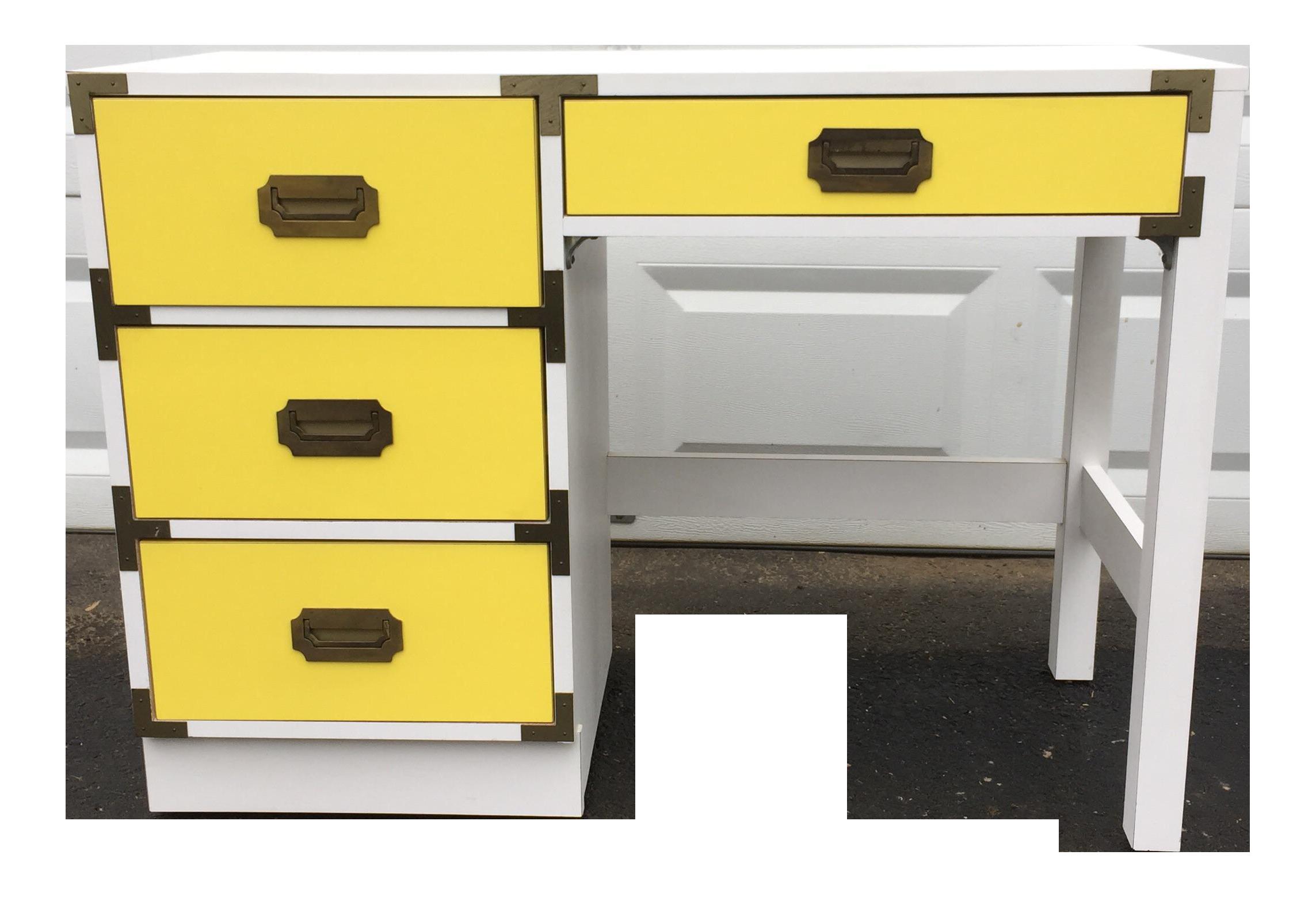 midcentury modern campaign desk