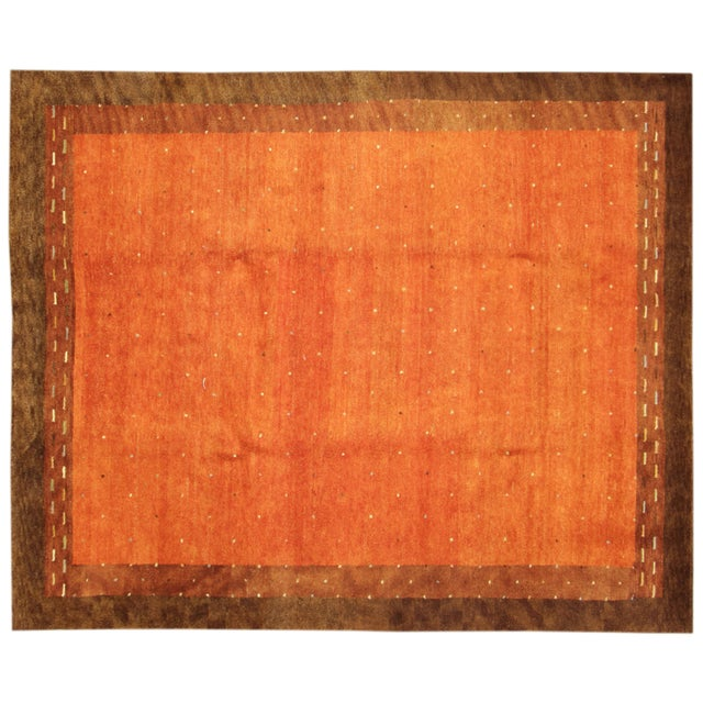 """Hand-Knotted Gabbeh Wool Rug - 7'8"""" x 9'5"""" - Image 1 of 5"""