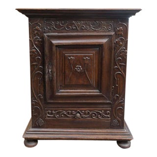French Carved front Oak Commodini circa 1720
