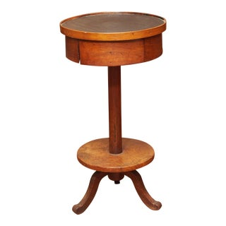 EARLY 19C. PROVINCIAL DRUM TABLE