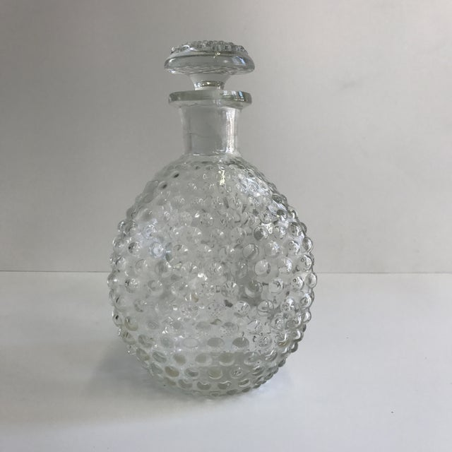 Image of Hand Blown Hobnail Glass Decanter