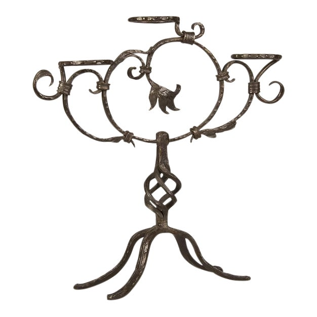 Image of Antique French Hand-Forged Iron Plant Stand circa 1870