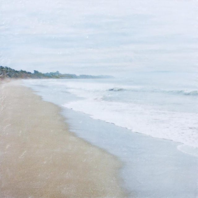 Morning on Hidden Beach - Photo Encaustic Painting - Image 1 of 4