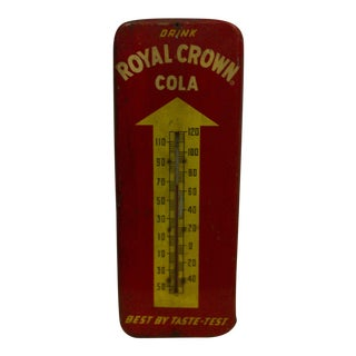 "Vintage Metal ""Cola"" Advertising Thermometer"