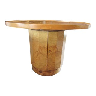Olive-wood burl table by Edward Wormley for Dunbar