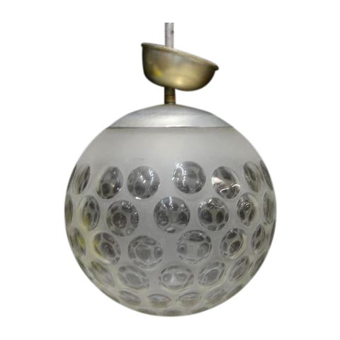 Modern Frosted Globular Italian Chandelier - Image 1 of 4