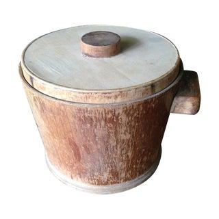 Rustic Wood Ice Bucket