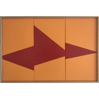 """Orange On Point Triptych - JET0429"" Original Acrylic Painting by Jason Trotter"