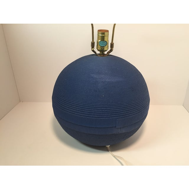 Vintage Gregory Van Pelt Blue Lamp & Shade - Image 5 of 6