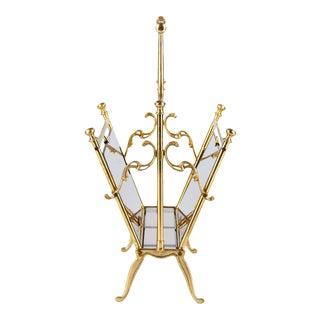 French Mid-Century Brass Magazine Holder