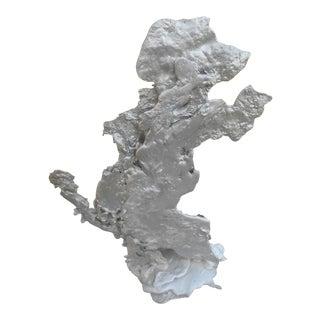 Abstract Molten Aluminum Free Form Dog Sculpture