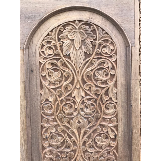 Antique Carved Anglo-Indian Doors - Pair - Image 6 of 6 - Antique Carved Anglo-Indian Doors - Pair Chairish