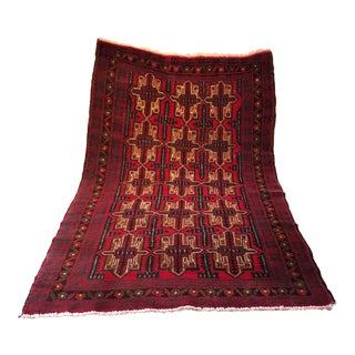 Pakistani Wool Rug - 3′7″ × 6′2″