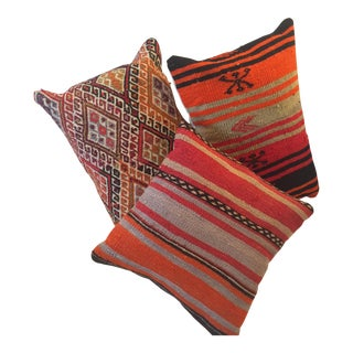 Antique Kilim Pillows - Set of 3