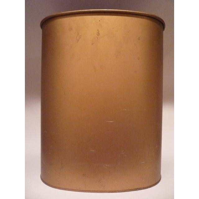 Vintage Janis Pilgrim Tole-Painted Wastebasket - Image 4 of 5