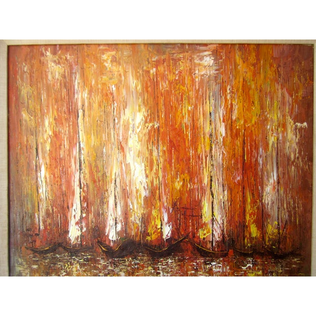 Modernist Abstract Painting - Cityscape/Waterscape - Image 7 of 11
