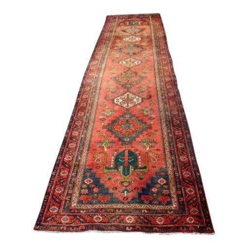 Antique Persian Karaja Runner - 3′7″ × 14′ - Image 1 of 10