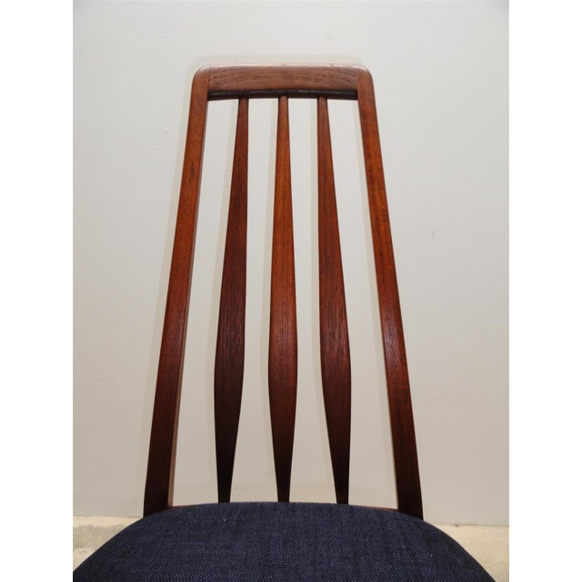 Danish Modern Eva Dining Chairs by Koefoeds Hornslet - Set of 4 - Image 9 of 10