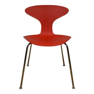 Bernhardt Modern Red Chrome Desk Chair