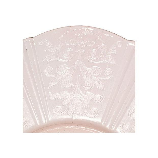 Image of 1930s Pink Glass Serving Plate