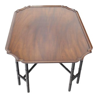 Faux Bamboo Tray Top Rectangle Coffee Table by Kittinger