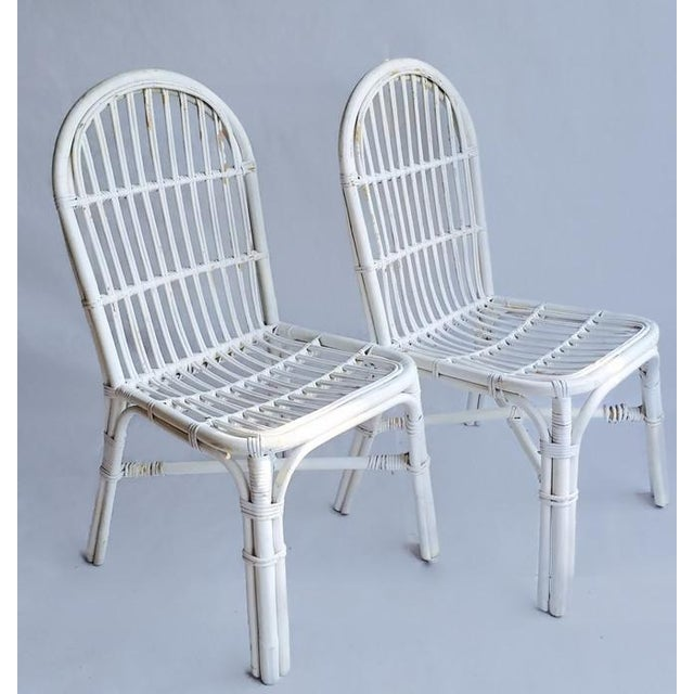 Mid-Century Bent Wood Bamboo Chairs - A Pair - Image 6 of 8