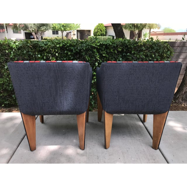 Mid-Century Modern Fin Leg Lounge Chairs - A Pair - Image 6 of 11