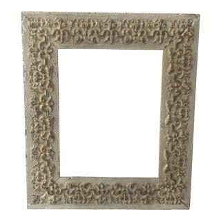 Vintage Gray & Gold Wood Frame